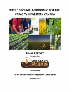 FERTILE GROUND AGRONOMIC RESEARCH CAPACITY IN WESTERN CANADA