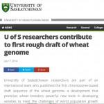 U of S Wheat Genome